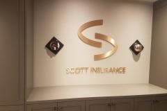 3D bronze letters Scottt