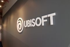 3D cut out letters for UBISOFT