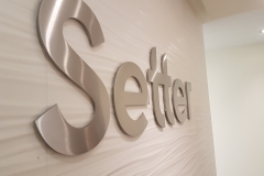 3D cut stainless steel letters