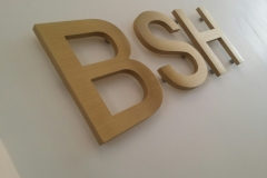 Brass cut out letters BSH