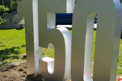 Free standing fabricated metal letters 150