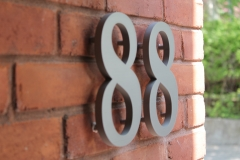 Stainless steel 3D numbers 88