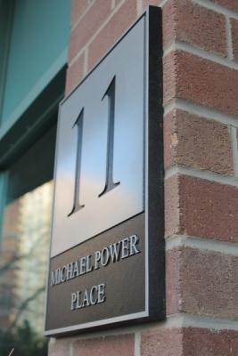 Custom aluminium plaque 11 Michael Power Place-