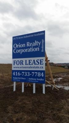 Custom billboard Orion Realty-