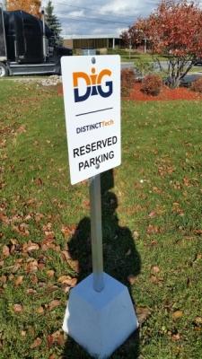 DIG reserved parking sign-