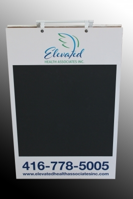 Elevated health chalk a board