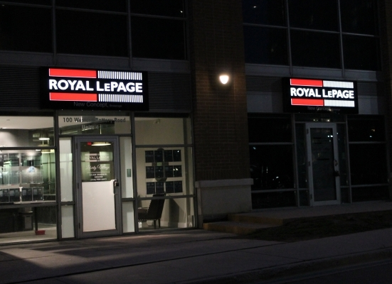 Royal Lepage alupanel boxes with cut out letters pushed out-