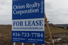 Custom billboard Orion Realty-
