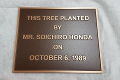 Custom raised text bronze plaque Honda-