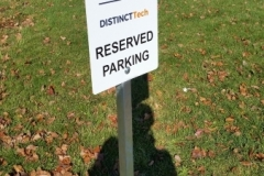 DIG reserved parking sign-
