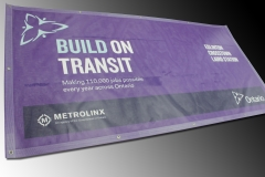 Eglinton Crosstown Laird Station mesh banner-