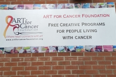 Full color printed banner Art for Cancer