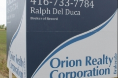 V shape billboard Orion Realty