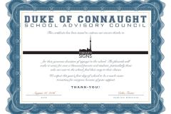 Duke Certificate