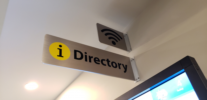 Brushed-steel-directory-signs