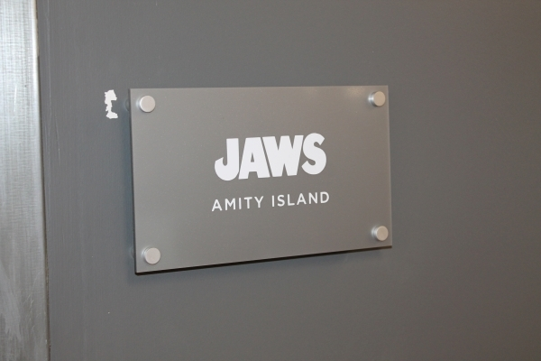 Painted acrylic lobby sign Jaws