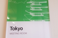 Clear acrylic interior sign - meeting room