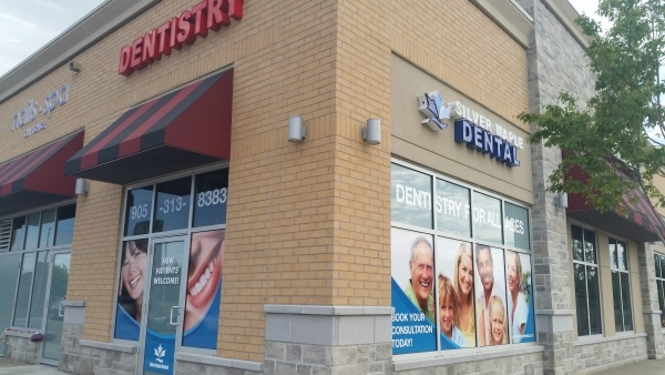 Full color printed window graphics silver maple dentistry