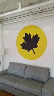 Wall graphics Leaf