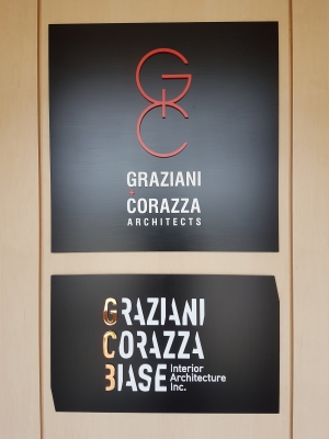 Custom raised metal reception signs GRAZIANI