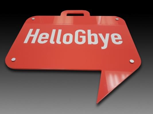 Reception sign Hello