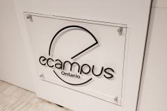 Clear-acrylic-reception-sign-Ecampus