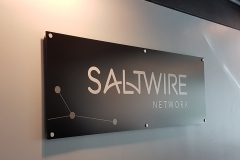 Matte aluminium reception sign Saltwire