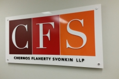 Reception sign CFS