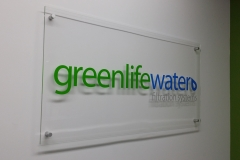 Reception sign Greenlife water