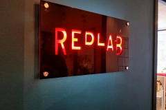 Reception sign LED illuminated REDLAB