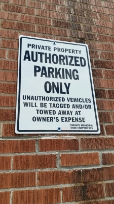 Parking sign Authorized Only