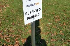 DIG reserved parking sign