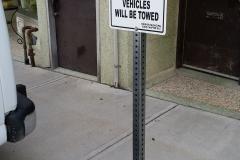 Parking sign Vacuums.