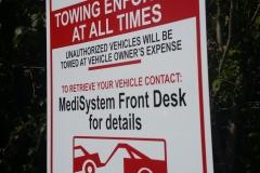 Parking signs medisystem