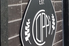Aluminium raised plaque Coppi
