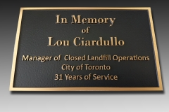 Bronze plaque City of Toronto
