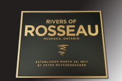 Bronze plaque Rivers of Rosseau