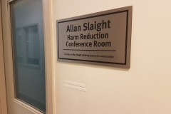 Etched stainless steel plaque Allan