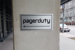 pagerduty raised aluminium plaque