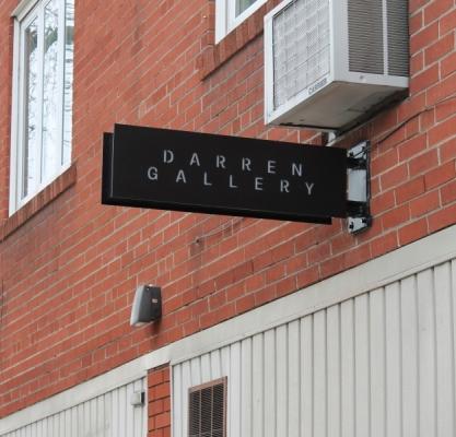 Custom aluminium box with LED illuminated white letters Darren Gallery
