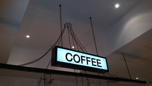Hanging LED illuminated coffe box