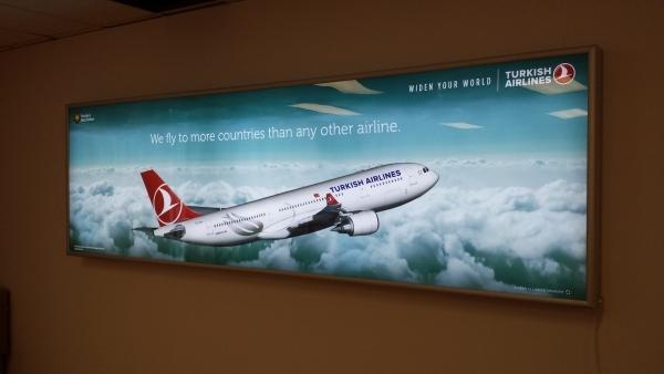 LED illuminated sign box Turkish airline