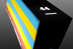 All sides LED illuminated acrylic sign box