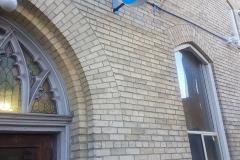 Circular sign box Knox church