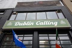 Custom LED illuminated sign box for Dublin Calling