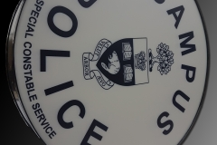 Custom LED sign box for Campus Community Police - University of Toronto
