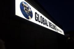 LED illuminated sign box Global Welding