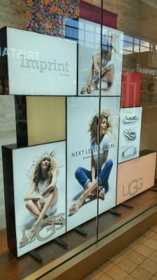 Custom LED sign boxes UGG Yorkdale mall