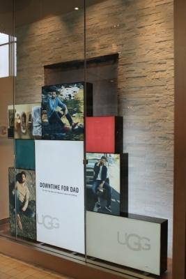 UGG custom sign boxes wall