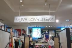 Lobby Sign Live Love Dream